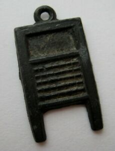 VINTAGE Old Metal Laundry WASHBOARD Charm Cracker Jack Toy Prize 1920's-30's