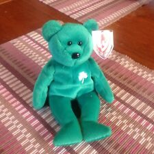 Ty Beanie Original Baby ERIN the Irish Bear New with Mint Tag