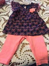 Two Piece Set For Baby Girl, Size 6 Months, Carters Brand