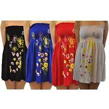 New Womens Boobtube Stretch Mini Sun Dress Tops 8-20