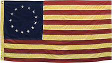 Betsy Ross American Flag 13 Stars Aged Tea Stained Americana Primitive