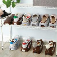 Shoe Slots Double Layer Plastic Space Saver Holder Shoes Box Organizer Storage