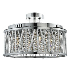 Elise CROMATO 5 Luci Soffitto Illuminazione Lampadario a gocce di cristallo RACCORDO pulsante