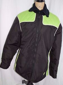 Arcticwear Vintage Womens M snowmobile coat Arctic Cat Black Green Quilted WARM!