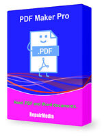 PDF Creator Edit Remix Author Software Designer Reader Document Software PC DVD