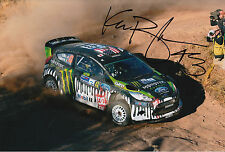 Ken Block Hand Signed 12x8 Photo Ford Fiesta Hoonigan Rally 4.