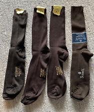 Vintage 60s Dress Socks Ban-Lon Sz 10-13 USA NOS Lot of 4 Brown Nylon Hosiery
