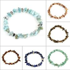 New Healing Crystal Nuggets Chips Gemstone Jewelry Pebbles Bracelet Wrist Gift