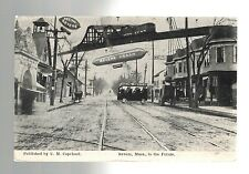1909 Chelsea to Worcester Massachusetts Futuristic Real Picture Postcard Cover