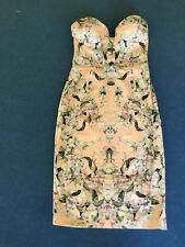 ASOS PETITE Floral Polished Cotton Midi Pencil Dress UK 8 US 4 EUR 36
