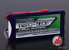Nano-tech 2100mAh 2S 6.6V 20~40C LiFe Receiver Battery Pack Fits .50 .90 Heli