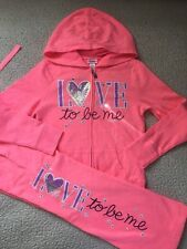 Justice Girls Pink Color LOVE YO BE ME Pants and Jacket Set Size 6 New
