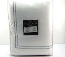 New Fieldcrest 0458 Classic Hotel Queen Comforter Set 3 Piece White Washed Linen