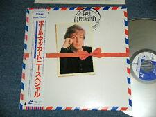 PAUL McCARTNEY BEATLES Japan 1986 Laser Disc+Obi THE PAUL McCARTNEY SPECIAL