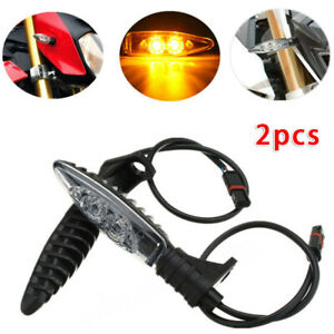 2x Motorcycle Turn Signal Indicator LED Light For BMW S1000RR HP4 F800GS R1200GS
