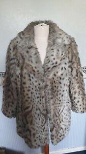 Vintage Leopard Print Faux Fur Wwf Astraka Coat M/l 1960s 1970s