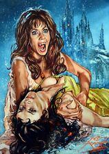 THE VAMPIRE LOVERS / SUPER HEAVYWEIGHT LARGE RICK MELTON ARCHIVAL FINE ART PRINT