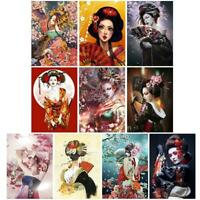 5D DIY Full Drill Diamond Painting Geisha Cross Stitch Mosaic Craft Kits #gib