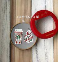 Starbucks 2018 China Christmas Holiday Mind Red Cup And Christmas Tree Card Set