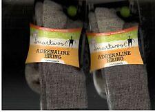 2 Smartwool Adrenaline Wool Hiking Socks Men's Medium Taupe Women's New 2 Pairs