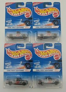 SEALED Chevy 1500 Lot of 4 Hot Wheels 1996 First Editions Diecast Trucks 1:64