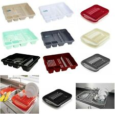 LARGE KITCHEN SINK DISH DRAINER CUTLERY PLATE CUP DRAINER HOLDER DISH RACK NEW