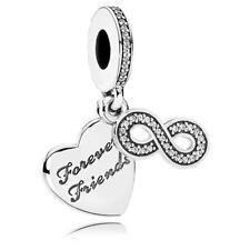 Original Pandora Amuleto Forever Amigos Colgante Esterlina Plata Bead 791948CZ