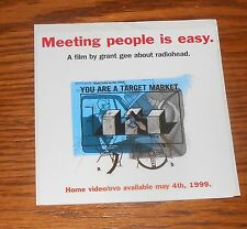 Radiohead Meeting People is Easy Sticker Decal 1999 Square Promo 4x4 RARE