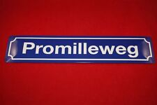 """""""Promilleweg"""" Nostalgieschild Türschild Blechschild Bier Beer Funschild"""