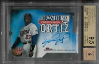 David Ortiz Minnesota Twins 2017 Topps Finest careers die cut auto 08/10 BGS 9.5