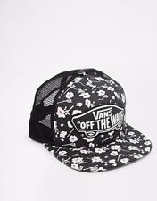 Vans Off The Wall Beach Girl Graphite Floral Classic Patch Snapback Trucker NWT