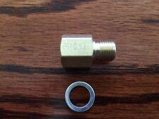 "1/8"" NPT Female to M10x1.0 Male Pressure Gauge Sender Adapter M10 Fuel Oil Trans"