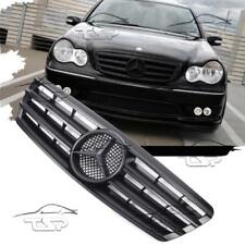 FRONT BLACK-MATT GRILL FOR MERCEDES CLASS-C W203 S203 AMG LOOK SPOILER 203061-M
