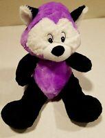 Toy Barn Fox? Black Purple Plush Stuffed Toy Animal