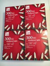 4 Boxes - Home Accents Holiday - 300 Mini Lights - Christmas String Lights - New