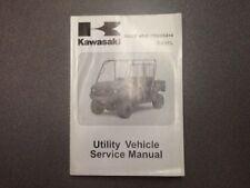 KAWASAKI OEM SERVICE MANUAL 2009 MULE 4010 TRANS 4x4 DIESEL 99924-1409-01