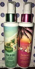 2X BATH & BODY WORKS WAIKIKI BEACH COCONUT & PASSIONFRUIT BANANA  Hair Perfume