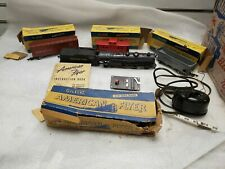 American Flyer Train Set Vintage Reading Steam Engine Box Passenger Cars Caboose
