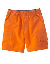 NWT Gymboree Construction Ahead Orange Shorts 12 18