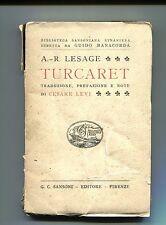 A. - R.Lesage # TURCARET # Sansoni 1921