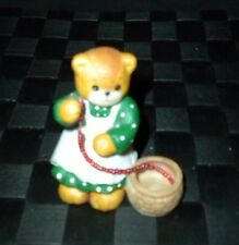 Enesco 1993 Lucy & Me Porcelain Girl Stringing Berries Figurine