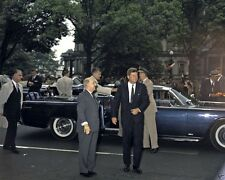 President John F. Kennedy and Peru leader at Blair House New 8x10 Photo