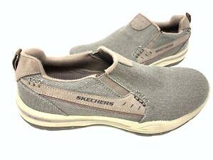 NEW! Skechers Men's ELMENT LEGON Slip On Loafers Taupe #64993 157E