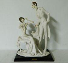"Giuseppe Armani Lady & Gentleman Sculpture Art Florence Figurine 15"" Tall 10"" L"