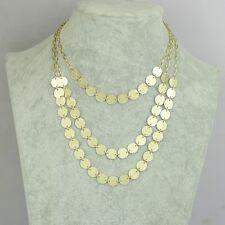 Art déco style trois couches d'or givré collier lustre cercle