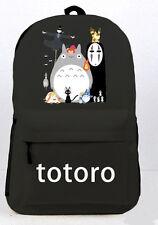 Miyazaki Hayao Ghibli Totoro Backpack Black Student Schoolbag Travel Bag