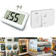 LCD Fridge Freezer Thermometer Waterproof Hanging Hook Magnet Stand Electronic