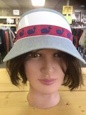 No Boundaries Women's visor With Whale Motif
