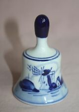 Collectible Ceramic Art Bell Blue Delph Color Hand Painted #2