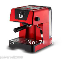New Red High Quality Household Coffee Machine Pot Semi Automatic Coffee Maker